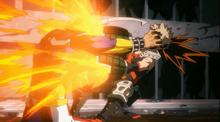 Katsuki atacando a All Might 37