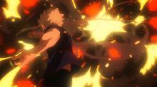 Katsuki ataca a Tomura