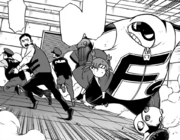 The team split