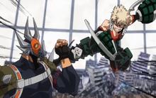 Katsuki attacks Villain-All Might