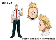 Mirio Togata TV Animation Design Sheet