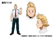 Mirio Togata TV Animation Design Sheet