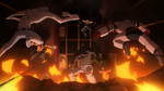 Pro Heroes attack Hosu Nomu