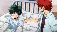 Eijiro asks for Izuku's help