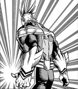 All Might's suit from the back