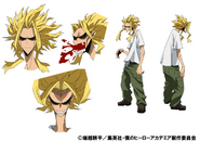 Toshinori Yagi TV Animation Design Sheet