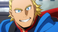 Young All Might smiles