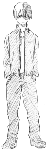 Shoto Todoroki Casual Boceto