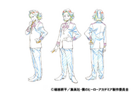 Yuga Aoyama Uniform Shading TV Animation Design Sheet