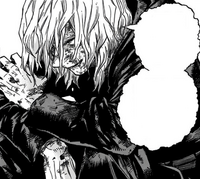 Tomura Shigaraki after fighting Gigantomachia
