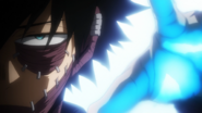 Dabi preparing to burn petty criminals