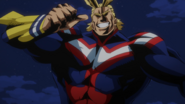 All Might confronts Wolfram