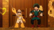 Gran Torino tells Izuku that they are going to fight villains