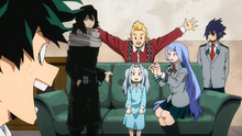 Eraser Head and the Big Three taking care of Eri