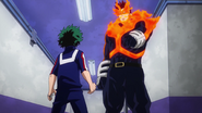 Izuku and Endeavor