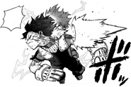 Izuku Midoriya hit by Twin Impact