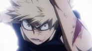 Katsuki Bakugo surprised Izuku uses his fist
