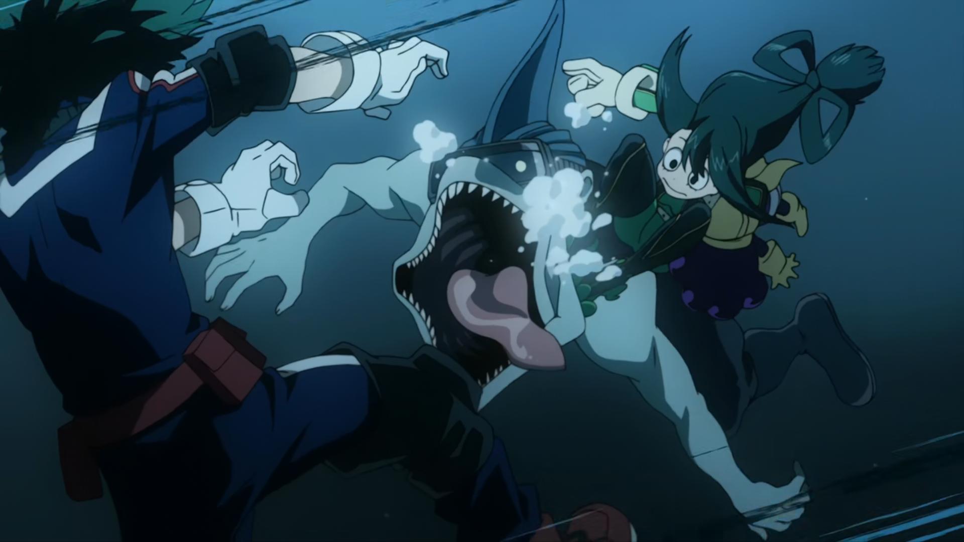 Boku No Hero Academia Tsu izuku midoriya, tsuyu asui & minoru mineta vs. villains | my