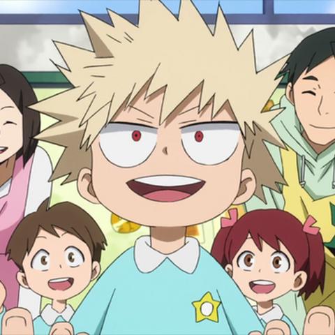Katsuki de niño