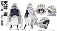 Tamaki Amajiki Hero Costume TV Animation Design Sheet