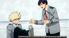 Katsuki and Tenya Argue