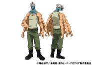 Mezo Shoji TV Animation Design Sheet