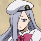 White Haired Seiai Student Portrait