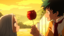 Izuku gives Eri a sweet apple