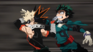 Katsuki throws Izuku