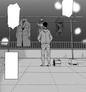 Koichi attends the laundry