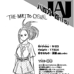 Perfil de Momo Yaoyorozu.