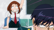 Ochaco yells past Tenya
