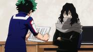 Izuku handing apology to Shota