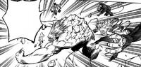 League of Villains attack Gigantomachia in the air
