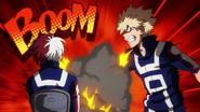 Katsuki tries to intimidate Shoto