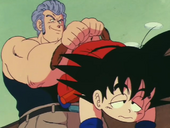 White agafa Goku per la cua