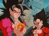Goku amb Bola de Drac i Vegeta