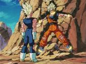 Goku atrapat per anells d'energia