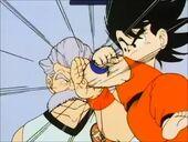 En Mutaito lluitant contra en Goku