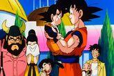 Goku despedeix Goten i amics