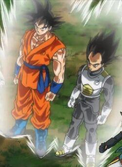 Goku i Vegeta Saiyans més enllà de Déu