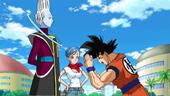 Goku demana a Whis entrenament