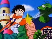 Goku ataca Satanàs