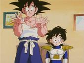 Goku i Gohan a casa