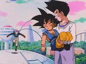 Goten salva Goku