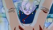 Goku apunta a Shin