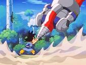 Goku atura Mega Canó Sigma