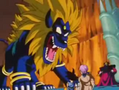 Lleó vs Trunks i Goku