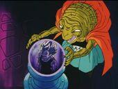 Babidí veu Vegeta a la bola