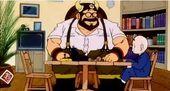 Krilin a casa Goku amb Ox-Satan